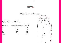 Tabela de Medidas Calça c/ Elástico de Brim