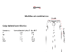 Tabela de Medidas Calça c/ Elástico Seletel